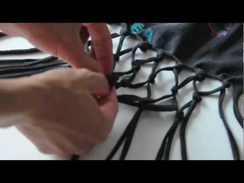 DIY fishnet tee top video - DIY FASHION TUTORIAL