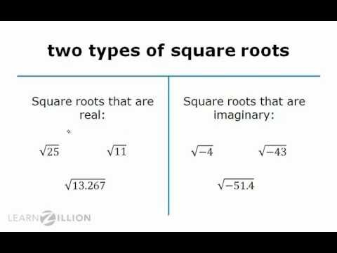 Write the square root of a negative number as imaginary - N-CN.1