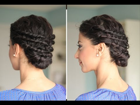 Easy Up-Do for Naturally Curly Hair