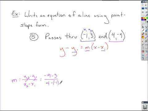 Algebra Review - Graphing and Equations of Lines