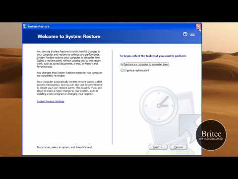 How to Start the System Restore Tool from a Command Prompt by Britec