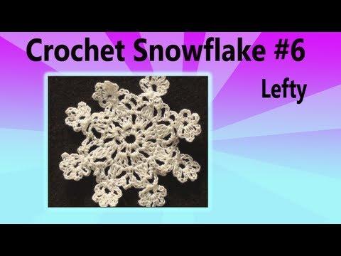 Left Hand Crochet SnowFlake #6