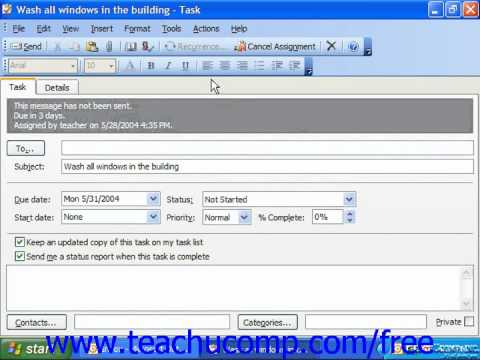 Outlook 2003 Tutorial Responding to Task Requests Microsoft Training Lesson 7.11