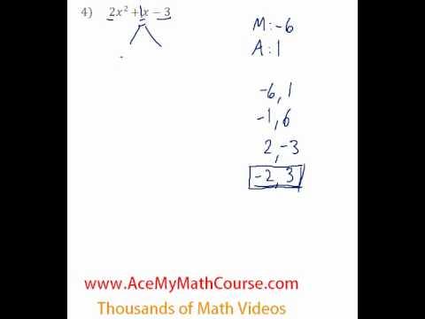 Polynomials - Factoring Trinomials (More Challenging) #4