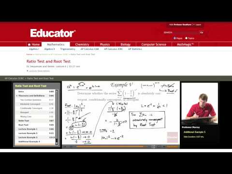 Calculus: Ratio Test and Root Test