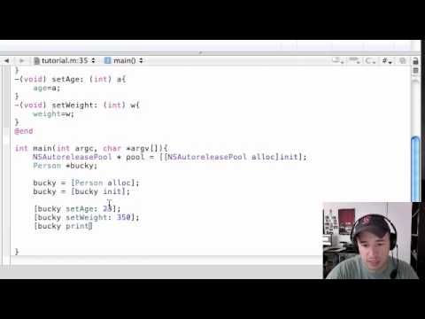 Objective C Programming Tutorial - 6 - Creating an Object