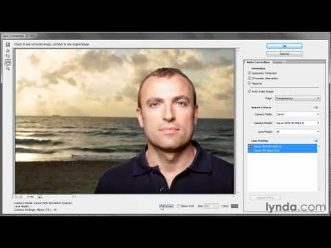 Photoshop: How to correct lens distortion | lynda.com tutorial