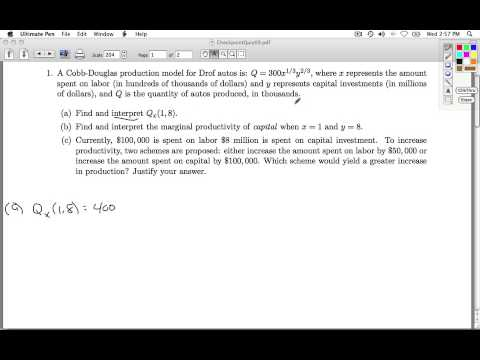 Applied Calculus Checkpoint Quiz 09 Part 1 of 4