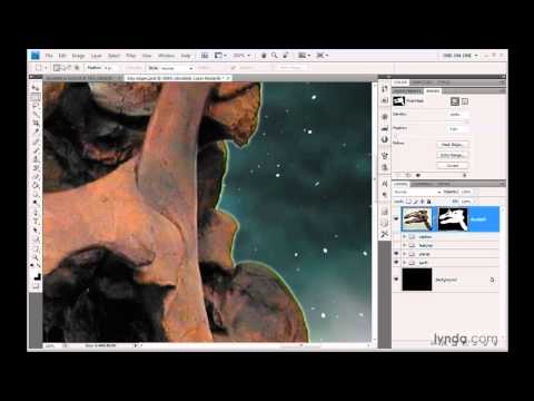 Photoshop: Choking a mask with Gaussian Blur and Levels   lynda.com