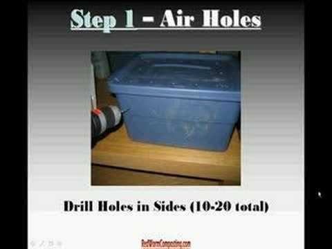 Setting Up a Worm Composting Bin