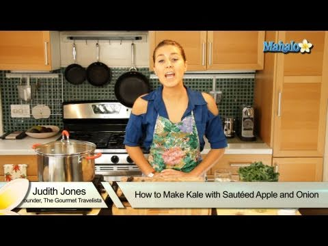 How to Make Kale With Sauteed Apple and Onion
