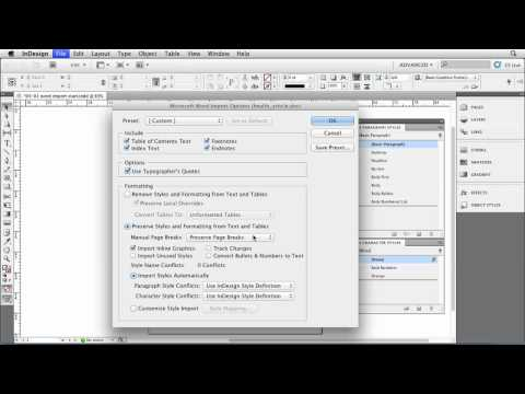 InDesign tutorial: How to import Microsoft Word files | lynda.com
