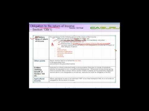 986.CA FINAL Income Tax   ROI Part III