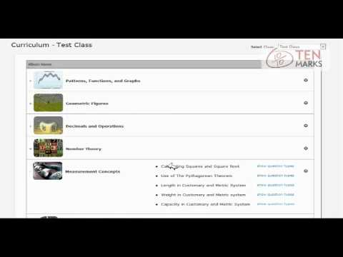 Use the Curriculum Page to Determine Work to Assign