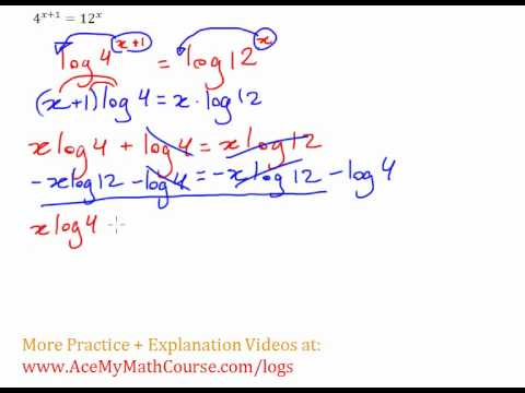Exponential Equation - Solving with Logs Example #3