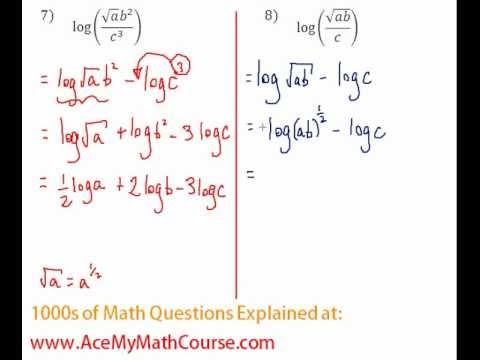 Logarithms - Expanding Log Expression Question #8