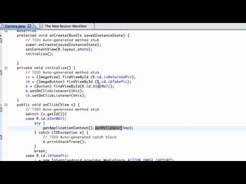 Android Application Development Tutorial - 42 - Using BitmapFactory and InputStream to set Bitmap