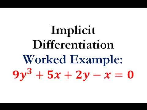 Derivatives - Implicit Differentiation Question #4