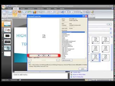 PowerPoint 2007: Inserting Sound Part 2