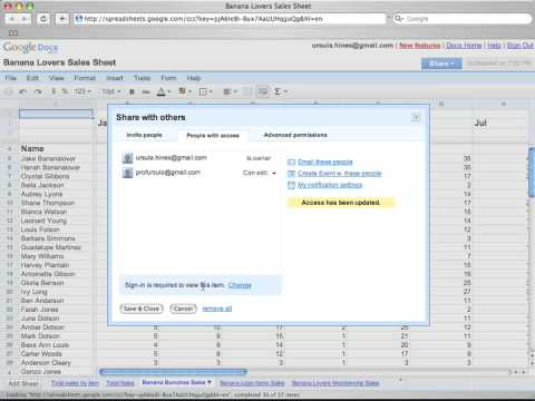 How to Share Google Spreadsheets