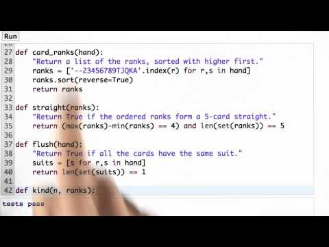 Ace Low Straight - CS212 Unit 1 - Udacity