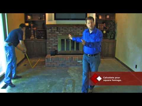 SnapStone Porcelain Tile Installation - Measuring the Room