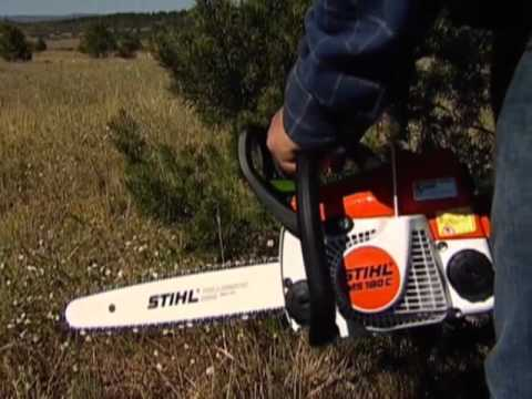 Stihl MS 180 C-BE Chainsaw-DIY