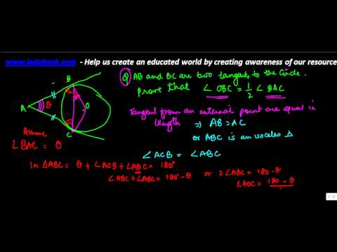 679.CBSE Maths Class X - Cirlces - Complex problem on computing angle and tangent