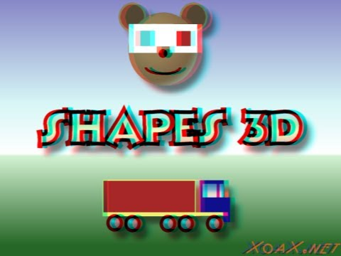 Children's: Shapes 3D - Red / Cyan Anaglyph