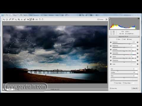 (HD) Add drama with the Adjustment Brush in Photoshop CS4 & Lightroom 2 - Photoshop Week 35