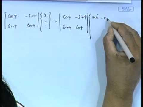 Mod-01 Lec-24 Dynamic Equations of Motion - I