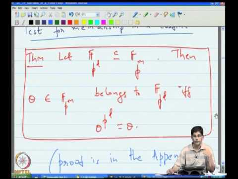 Mod-10 Lec-39 Subfields of a Finite field