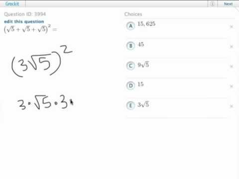 Grockit GMAT Quantitative - Problem Solving: Question 3994