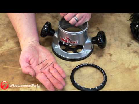 How to Replace the Depth Adjustment Ring on a Porter Cable 690 Series Router--A Quick Fix