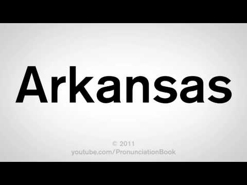 How To Pronounce Arkansas