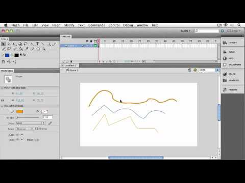 Total Training for Adobe Flash CS5 Professional  Ch 1 L3. Selecting & Reshaping Curves
