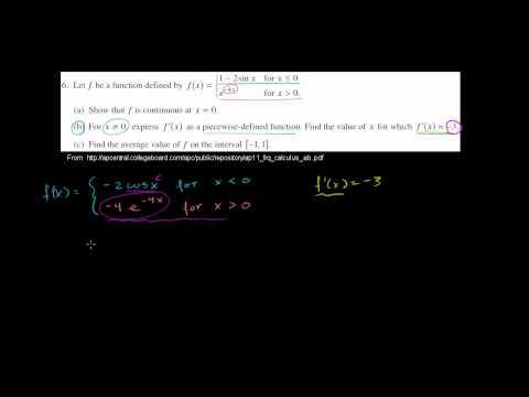 2011 Calculus AB Free Response #6b