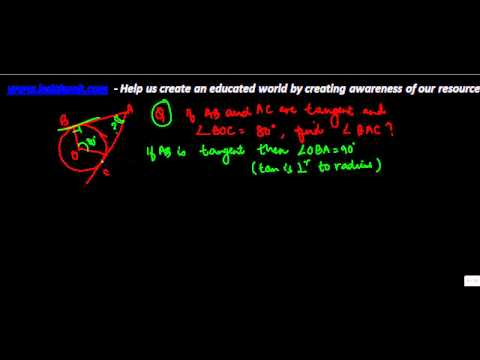 675.CBSE Maths Class X - Cirlces - Problem 1 on Tangent