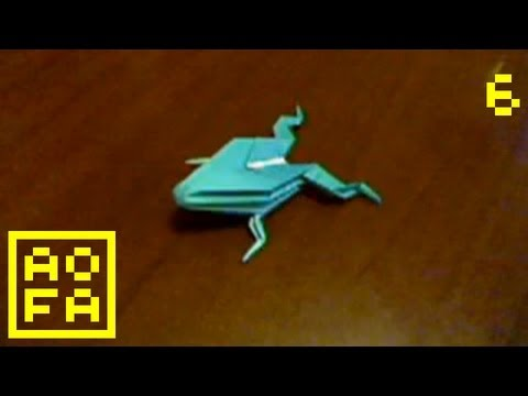 How to make an Origami Jumping Frog ...for all (06)