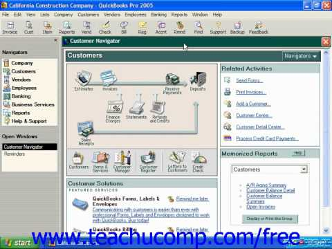 QuickBooks 2005-2003 Tutorial Returning to the Easy Step Interview Intuit Training Lesson 2.5