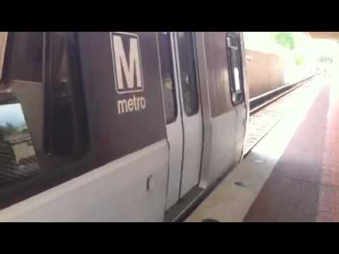 Boarding the Washington DC Metro at West Falls Church Station Virginia