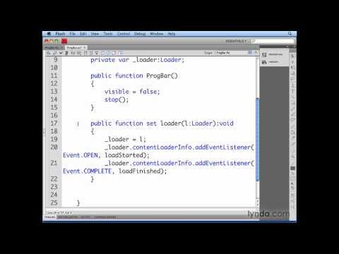 Flash Professional: Connecting a Loader instance | lynda.com