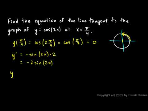 Calculus 3.08e - Trig Derivative Examples