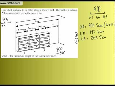 GCSE Upper and Lower Bounds Example 7
