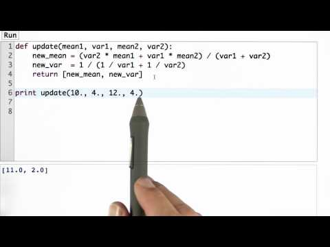 New Mean Variance Solution - CS373 Unit 2 - Udacity