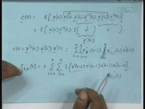 Lecture - 11 Misadjustment and Excess MSE