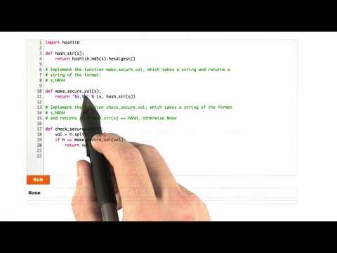 Verifying Hashed Cookies Solution - CS253 Unit 4 - Udacity