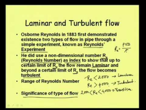 Mod-8 Lec-1 Pipe Flow: Friction Loss