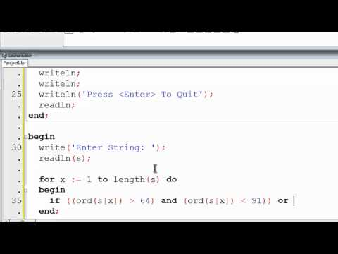 Free Pascal Program Tutorial 26 - Separating Strings With ASCII Codes - Lazarus