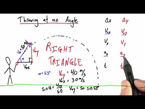 Initial Velocity at an Angle - Intro to Physics - Motion - Udacity